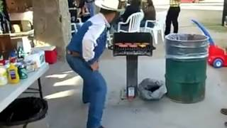 FUNNY MEXICAN DANCE ...making CARNE ASADA ..