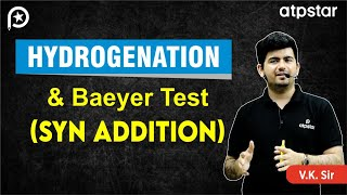 Hydrogenation and Baeyer test (cold KMno4) of alkenes -JEE Advanced || Mains (Hinglish)