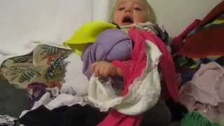 Baby trapped in underwear