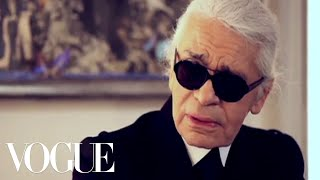 Karl Lagerfeld on His Design Philosophy & His New Collection | Vogue