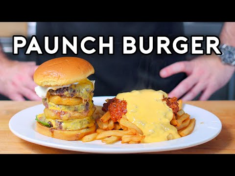 Binging with Babish Paunch Burger from Parks & Rec