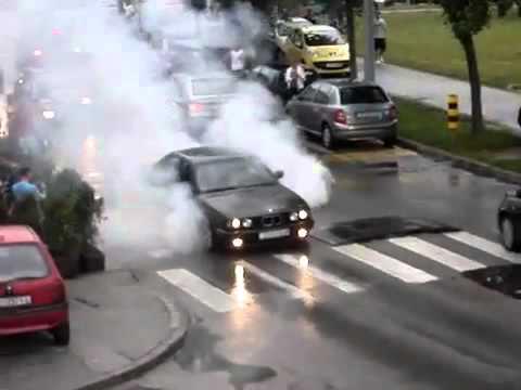 BMW palenie ale nie gumy