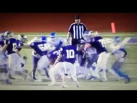 San Antonio Texas high school football players target ref because of a bad call.
