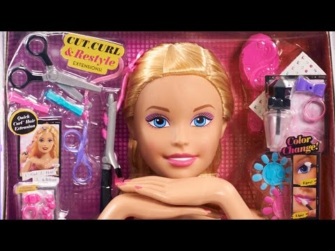 Barbie Color, Cut and Curl Deluxe Styling Head | Barbie Toy Unboxing and Review