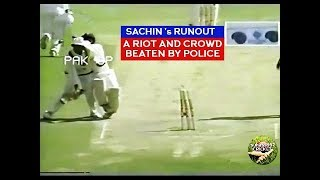 SACHIN TENDULKAR - THE RUNOUT THAT TRIGGERED A HUGE RIOT AND EMPTIED AN ENTIRE STADIUM!!