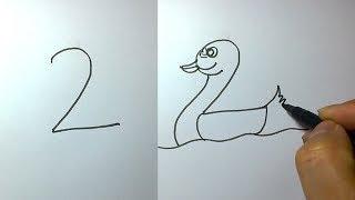 أسهل طريقة لتعلم الرسم عن طريق الأرقام بشكل رائع !!