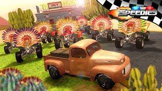 Ten Little Indians   Speedies Car Cartoons   Nursery Rhymes for Kids