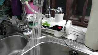 My Instant water Heater Tap - Really Great for dish washing