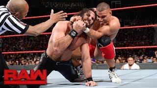 Seth Rollins vs. Jason Jordan - Winner faces Samoa Joe: Raw. Dec. 18, 2017