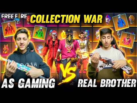 A s Gaming Vs Real Brother Bundle Collection Versus 😍 Who's Collection Is Best Garena Free Fire