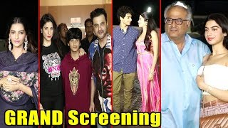 Dhadak Grand Screening With Bollywood Celebs | Jhanvi ❤️ Ishaan