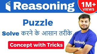 IBPS CLERK,RBI ASSISTANT I Puzzle Concept Tricks के साथ I Puzzle Solve करने के आसान तरीके