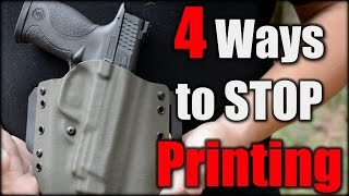 Concealed Carry| 4 Ways to STOP Printing| New Shooter Series