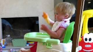 Little girl enjoying her popsicle