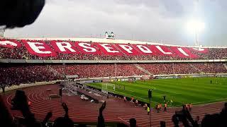 شعار هواداران پرسپولیس قبل از بازی با الجزیره امارات
