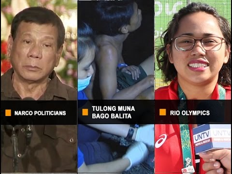 UNTV News & Rescue HATAW BALITA Full Episode August 08 2016
