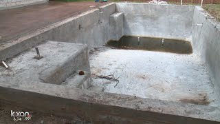 When builder walked away, homeowners left with unfinished pools