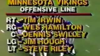 1982 Week 9 MNF Dallas Cowboys @ Minnesota Vikings