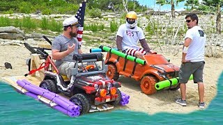 The $100 AMPHIBIOUS Power Wheels boat challenge!