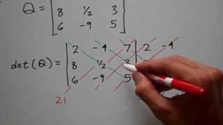 Determinant of a 3 x 3 Matrix