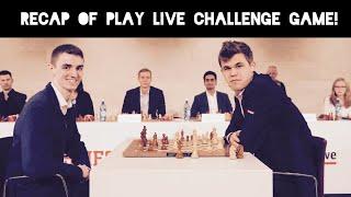 So, I played against Magnus Carlsen...