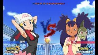 Pokemon Battle USUM: Dawn Vs Iris (Pokémon Ash Companion)