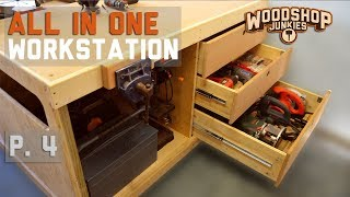 Workbench with power tools storage - ALL-IN-ONE woodworking station P4