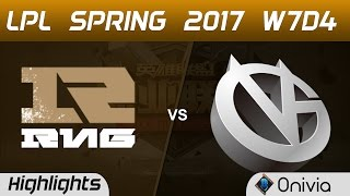 RNG vs VG Highlights Game 1 LPL Spring 2017 W7D4 Royal Never Give Up vs Vici Gaming