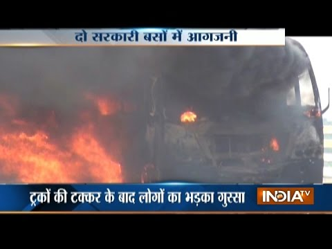 Violence Erupts in Bihar's Vaishali after Two Truck Crash
