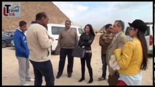 زيارة سيلينا جيتلى ملكة جمال الهند لمنطقة الاهرامات برعاية ترافيل لينك