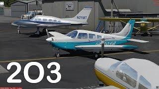 Prepar3D v4 - Just Flight PA-28 approch 2O3
