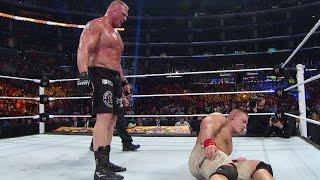 WWE Network: Brock Lesnar repeatedly suplexes John Cena: SummerSlam 2014