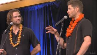 HonCon Jared Padalecki and Jensen Ackles GOLD FULL Panel 2017 Supernatural