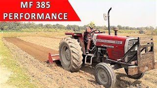 MF 385 Tractor with 54 Blades Rotavator | Agricultural Tractors