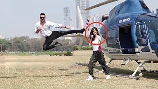 Tiger Shroff's Amazing Stunt With Disha Patani For Baaghi 2 Promotions