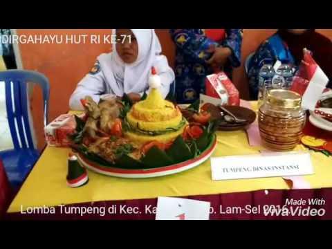 Lomba Tumpeng,Kec.Katibung Kab. Lam-Sel 2016. Dirgahayu HUT RI Ke-71