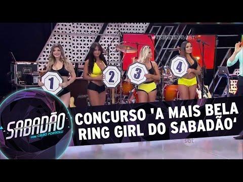 Sabadão com Celso Portiolli 20 02 16 Concurso A mais bela ring girl do Sabadão
