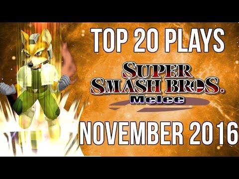 watch Super Smash Bros Melee Top 20 Plays of November 2016 (SSBM)