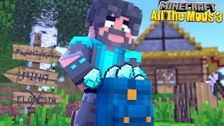 DIAMONDS + BACKPACKS!! | MINECRAFT ALL THE MODS 3 [#5]
