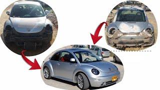 تعديل كامل من الصفر لسياره خنفساء /Modifying the terrible car vw beetle