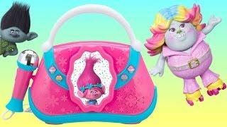 TONS of TROLLS Toy Playset: Poppy Boom Box Brigette Bergen Doll, Branch Music Light Guy Diamond TUYC