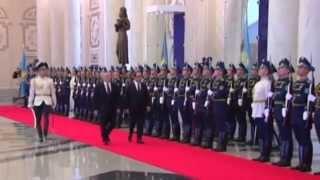 Hollande Urges Putin-Poroshenko-Merkel Summit: France's President visits Kazakhstan