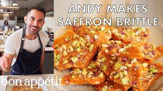 Andy Makes Delicious Saffron Brittle   From the Test Kitchen   Bon Appetit
