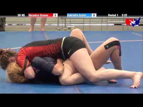 Veronica Graves vs. Gabriella Foster at 2013 Grappling World Team Trials No Gi