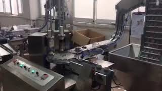 Automatic high speed pre cut wad inserting cap wadding machine caps lining
