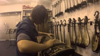 Demo of Shanghai Rosewood Guzheng with Shell Inlay