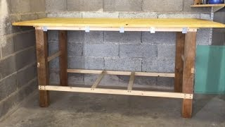 DIY How to Make a Cheap, Quick and Simple Workbench