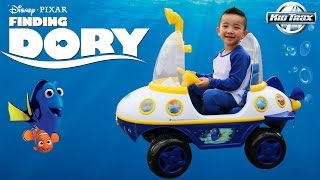 Unboxing Kid Trax Disney Pixar Finding Dory Submarine 6 Volt Battery Powered Ride-On Toy Car Ckn