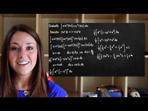 Trigonometric integrals - sin^mcos^n, odd n (KristaKingMath)
