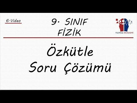9. SINIF FİZİK - ÖZKÜTLE SORU ÇÖZÜMÜ